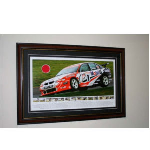 Craig Lowndes Roll Over Calder Park 1999 Limited Edition Frame