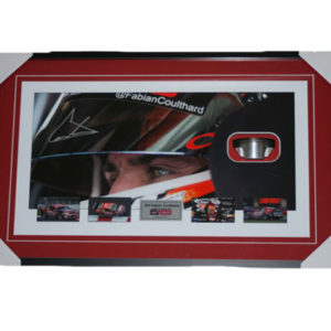 2013 Fabian Coulthard framed with race used piston half