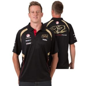 HOLDEN RACING TEAM MENS POLO BLACK 2013