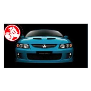HOLDEN MONARO GREETING CARD WITH BADGE 2012