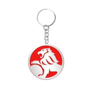 HOLDEN LION EMBOSSED KEYRING RED 2012