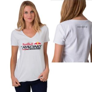 RED BULL RACING AUSTRALIA LADIES CASUAL T-SHIRT WHITE 2013