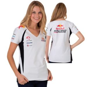 RED BULL RACING AUSTRALIA LADIES WHITE V NECK TEE 2013