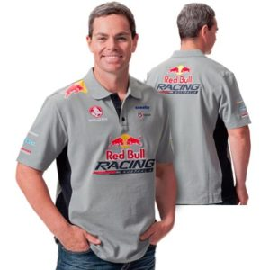 RED BULL RACING AUSTRALIA MENS TEAM POLO GREY/NAVY 2013