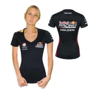 RED BULL RACING AUSTRALIA LADIES V-NECK T-SHIRT NAVY 2015
