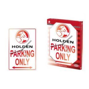 HOLDEN PARKING ONLY GLASS CLOCK