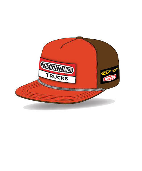 8cd3dc626868a freightliner racing retro round adults flat peak trucker cap